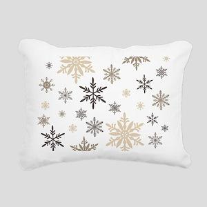 modern vintage snowflakes Rectangular Canvas Pillo