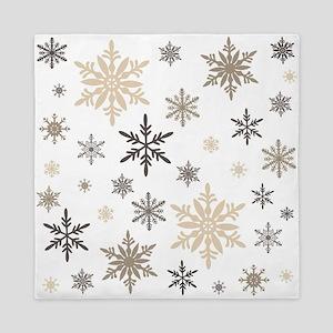 modern vintage snowflakes Queen Duvet