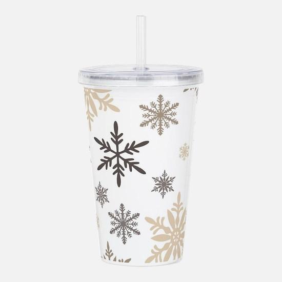 modern vintage snowflakes Acrylic Double-wall Tumb