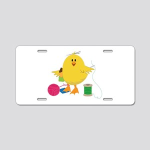 Sewing Chick Aluminum License Plate