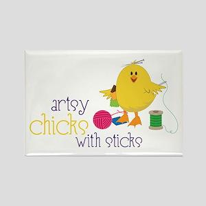 Artsy Chicks Magnets