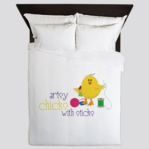 Artsy Chicks Queen Duvet