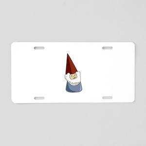 Garden Gnome Aluminum License Plate