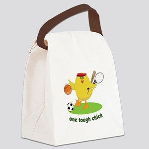 One Tough Chick Canvas Lunch Bag