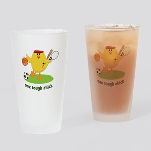 One Tough Chick Drinking Glass