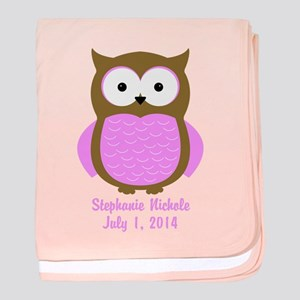 Owl (pink) Baby Blanket
