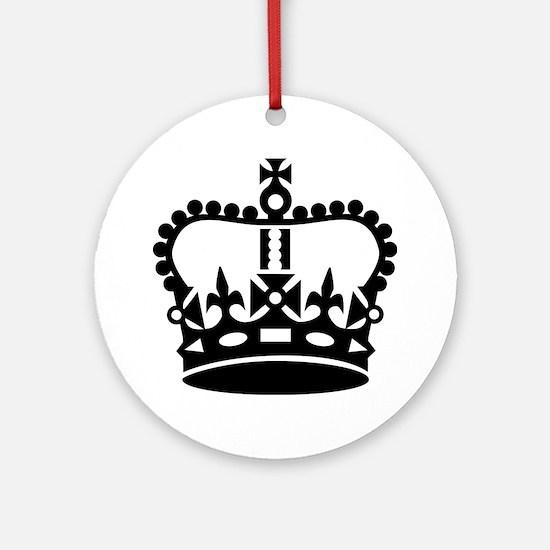 Black king crown Ornament (Round)