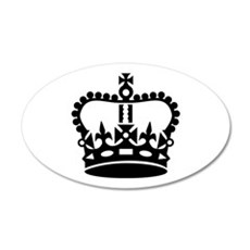 Black king crown Wall Decal