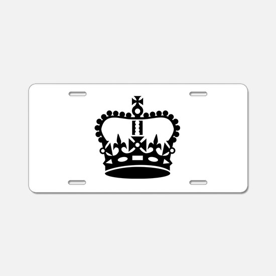 Black king crown Aluminum License Plate