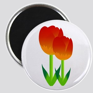 Red Tulips Flower Magnets