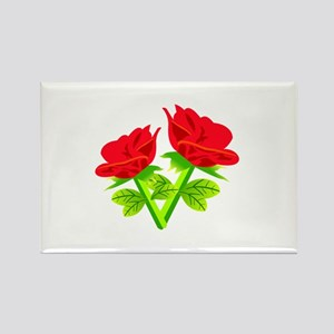 Red Roses Flower Magnets