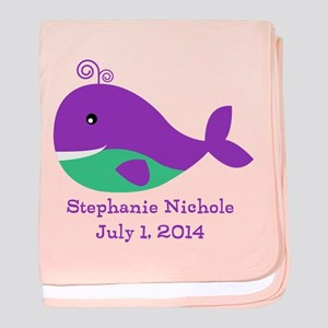 Whale (purple) Baby Blanket
