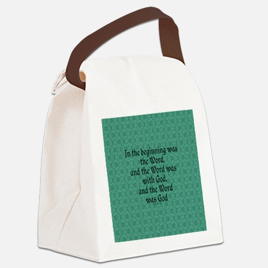 Cute Verse Canvas Lunch Bag