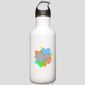 Hippo Hearts Stainless Water Bottle 1.0L