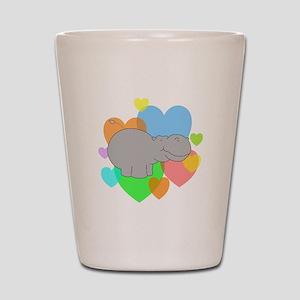 Hippo Hearts Shot Glass