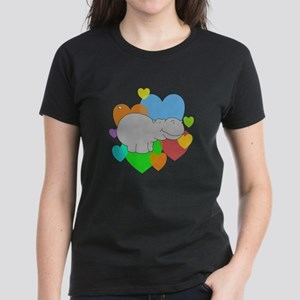 Hippo Hearts Women's Dark T-Shirt