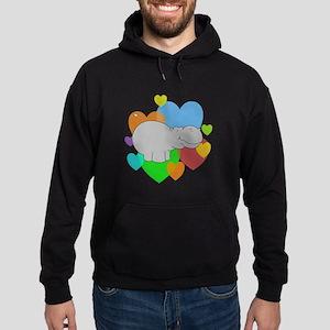 Hippo Hearts Hoodie (dark)