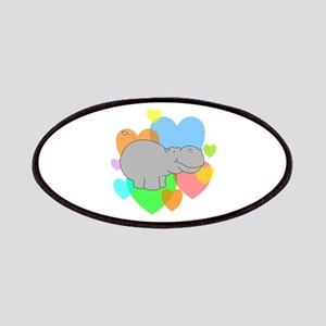 Hippo Hearts Patches