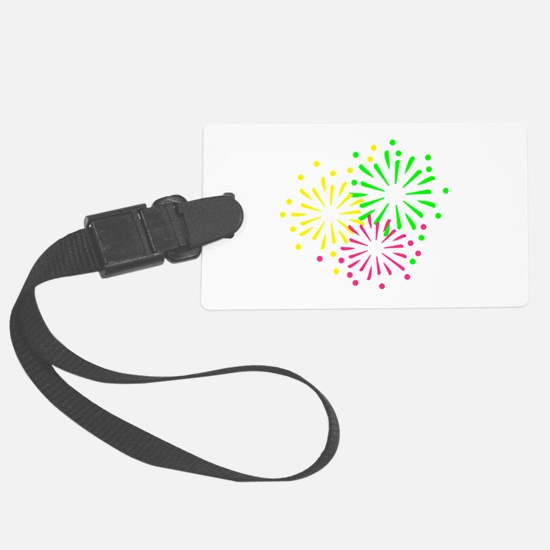 Colored Fireworks Luggage Tag