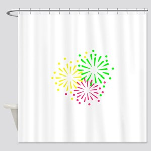 Colored Fireworks Shower Curtain