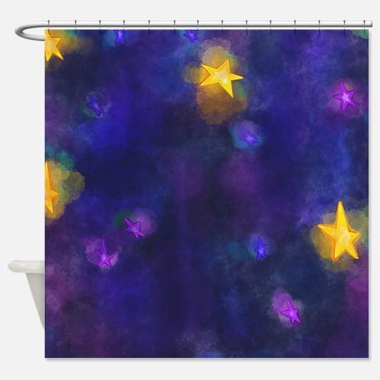 Cute Astronomy Shower Curtain