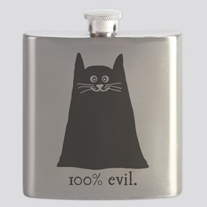 100% Evil Cat Flask
