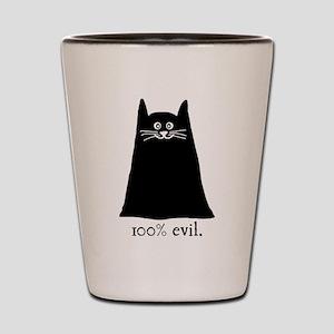 100% Evil Cat Shot Glass