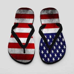Vintage USA Flag Flip Flops