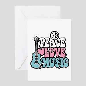 Peace Love Music Greeting Cards