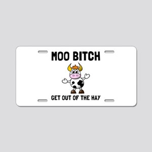 Moo Bitch Aluminum License Plate