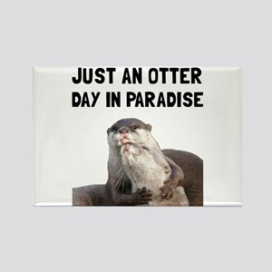Otter Day Paradise Magnets