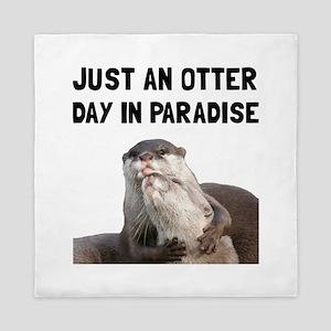 Otter Day Paradise Queen Duvet