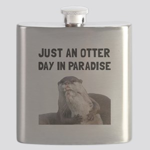 Otter Day Paradise Flask
