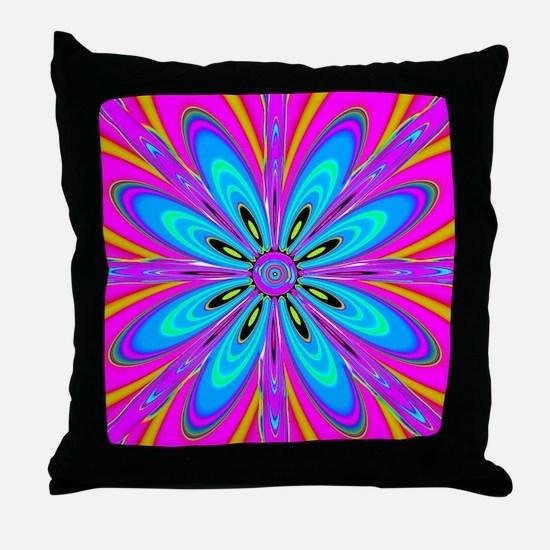 Light Blue Flower  Throw Pillow