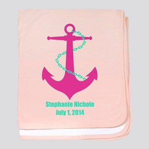 Anchor (pink) Baby Blanket
