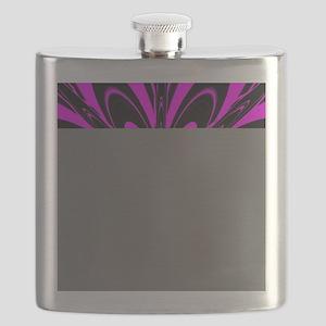 Hot Pink Flower  Flask
