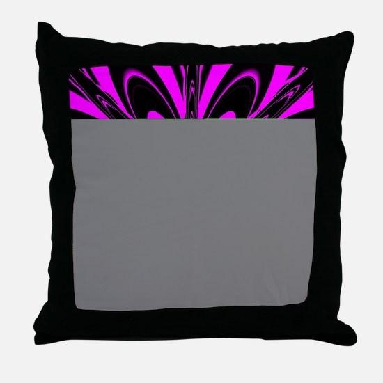 Hot Pink Flower  Throw Pillow