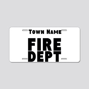 Fire Department Aluminum License Plate