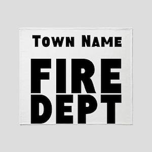 Fire Department Throw Blanket