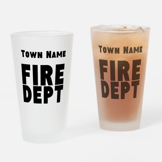 Fire Department Drinking Glass
