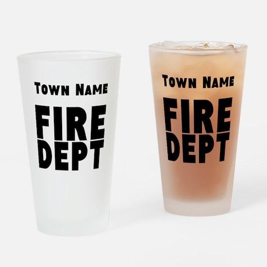 Fire Department Drinking Glass