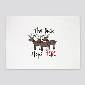 The Buck Stops Here 5'x7'Area Rug