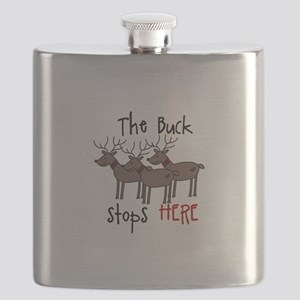 The Buck Stops Here Flask