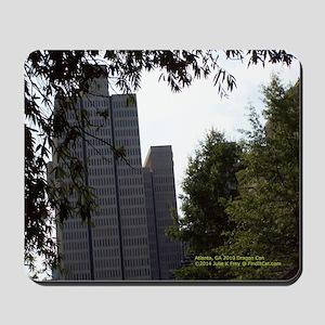 Atlanta Ga Trees & Narrow Buildings Mousepad