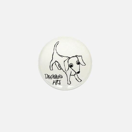 Dachshund Art Mini Button