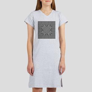 Gray Flower Women's Nightshirt