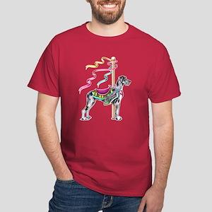 Great Dane Merle UC Carousel Dark T-Shirt