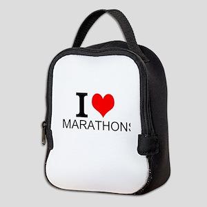 I Love Marathons Neoprene Lunch Bag