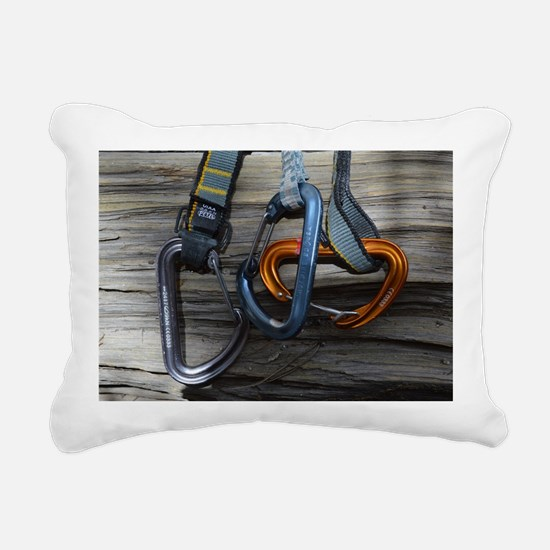 Climbing Draws Rectangular Canvas Pillow
