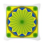 Window Flower 00 Woven Throw Pillow